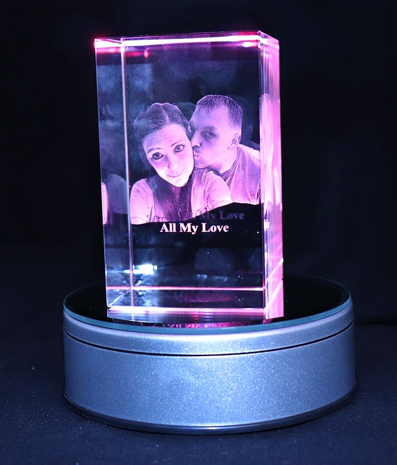 3D Photo Crystal Large (Zodiac 100x60x60mm)
