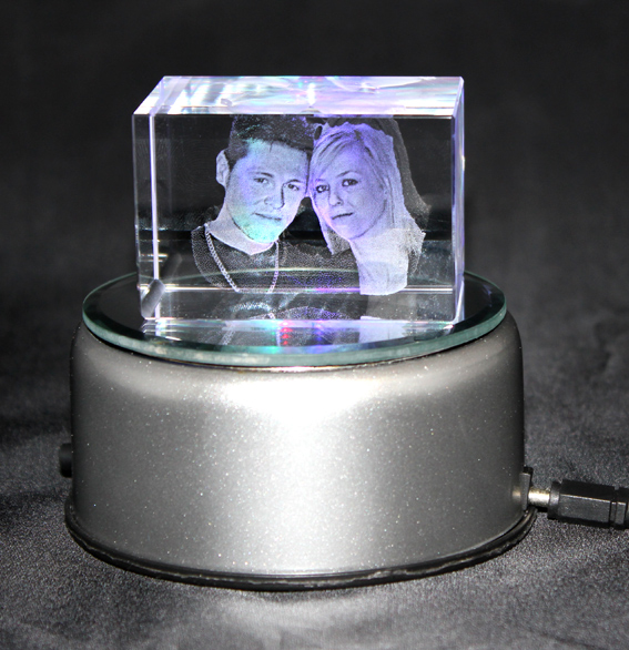3D Photo Crystal Small (Galaxy 60x40x40mm)